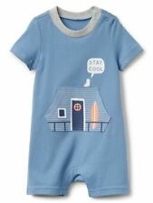 NWT Baby Gap Seagull Surfboard Stay Cool Short Romper One Piece 12-18 Months Boy