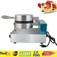 Electric Egg Cake Oven Puff Bread Maker Stainless Steel Waffle Bake Machine**