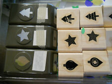 Stampin Up 3 small paper punches--star, tree, ornament FREE SHIPPING