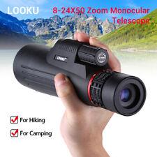 8-24x50 Zoom Monocular Telescope Binocular BK7 for Mobile Camping Hiking Hunting