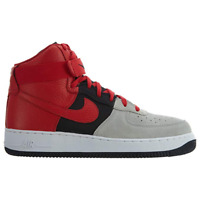 Nike Air Force 1 High 07' LV8 Wolf Grey Red Mens Sneakers $110.00