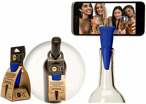 Selfie Cork Universal Bottle Stopper Monopod Handsfree for Photos & Videos, Blue