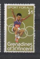 St VINCENT GRENADINES 1980 OLYMPIC GAMES $1 COMMEMORATIVE STAMP MNH