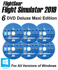 Flight Simulator 2019 DELUXE Edition X Flight Sim Windows 10 8 7 ME PC 6 x DVD