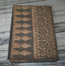 Handwoven Turkish Kilim Area Rug Gold Zari Print Work Wool Carpet Christmas Gift