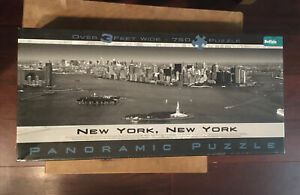 Buffalo Games New York City - Panoramic Puzzle - Black and White