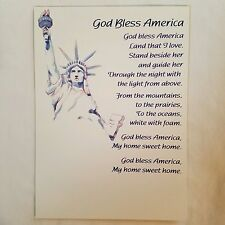 GOD BLESS AMERICA Greeting Card Statue of Liberty
