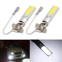 2X Car H3 COB 7.5W Xenon White Auto Bulb Fog Beam Head Light Lamp DRL 6000K 12V
