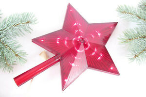 Vtg Soviet Russian Christmas Topper Red Star with Chaser Light Extremaly Rare