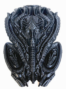 H.R Giger Inspired Alien Mother Wall Statue Figure Black