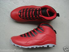 "Nike Air Jordan 10/X 45.5 ""Bulls Over Broadway"" Gym Red/Black-Wolf Grey"