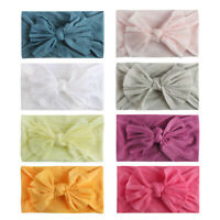 8PCS Toddler Baby Solid Headband Hair Band Bow Accessories Headwear for 0-2Years