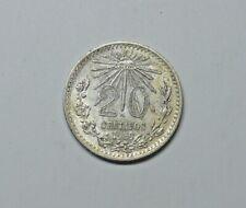MEXICO SILVER 20 CENT 1939.   0.720 SILVER.  KM 438.