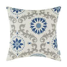 """Square Throw Pillows Cushion Covers Home Decor Dahlia Florals Geometric 18 x 18"""""""