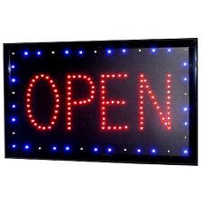 """LED Schild """" OPEN """" Leuchtreklame Werbung Stopper Leuchtschild Sign Display s31"""