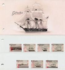 Gibraltar 2017 MNH HMS Gibraltar 7v Set Presentation Pack Boats Ships Stamps