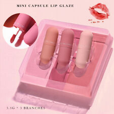 3pcs Mini Capsule Matte Lip Gloss Liquid Lipstick Waterproof Lips Makeup Tool