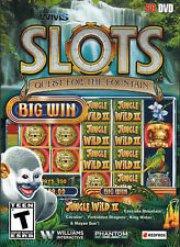 WMS SLOTS QUEST FOR THE FOUNTAIN 15 Slots Included PC Game DVD-ROM NEW