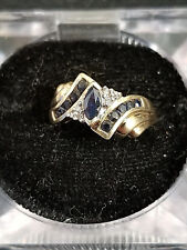 10k yellow Gold Sapphire and Diamond Ring Lot K