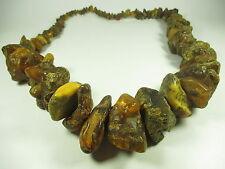 Rohbernstein Halskette XXL Bernstein Kette amber necklace BIG BoHo B86 N4