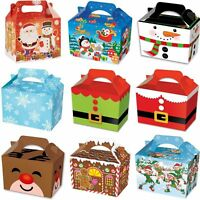 Party Boxes Christmas XMAS cardboard Lunch Food Loot  Treat Gift  Box  2 - 12