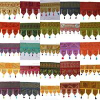 Indian Handmade Traditional -Valance Decor Door Hanging Embroidery Ethnic Toran