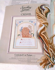 CONTENTED CAT Something Special ORANGE TABBY Crewel Needlepoint Kit NEW