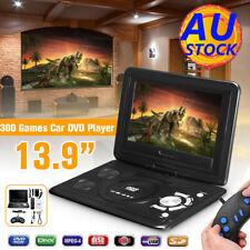 AU 13.9'' Portable Car TV HD DVD Player 16:9 270° Rotate Screen USB Game Travel