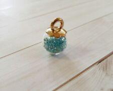 Glass Ball Charm Pendant Globe Teal Crystal Ball Glass Charm
