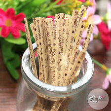 50x ESPECIALLY FOR YOU Twist Tie Gift Pack String Bendable Wedding Favour Rustic