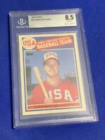 1985 Topps Mark McGwire RC #401 BGS 8.5 NM+ Rookie Card 1984 USA Baseball Team