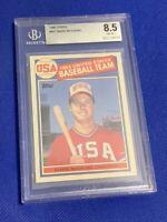 1985 Topps Mark McGwire RC #401 BGS 8.5 NM+ Rookie Card 1984 USA Baseball Team