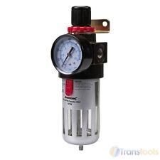 Silverline Air Line Filter Regulator Fitting Adjustable Pressure Gauge 427596
