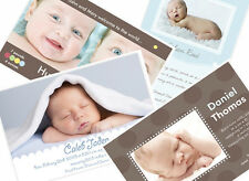 50 CUSTOM PHOTO BIRTH ANNOUNCEMENTS Baby Boy - Click to see all designs!