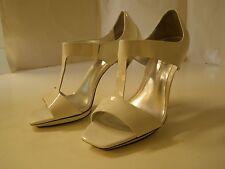 Jessica Simpson Jinx White Stilettos Heel 7 1/2 M Shoe New Open Toe Leather