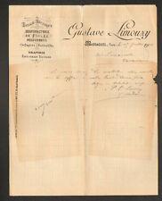 """MASSAGUEL (81) USINE de DRAPERIES EFFILOCHAGES TEINTURES """"Gustave LIMOUZY"""" 1901"""
