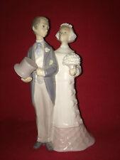 Lladro Porcelain Wedding Day Couple; Retired