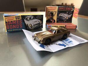 Aston Martin DB5.James Bond 007 Goldfinger.Corgi Toys N.261.Con Box Repro.