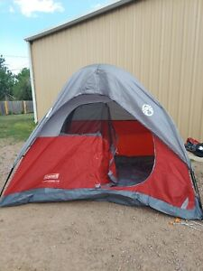 Coleman Flatwoods II 4 Person Tent  Red & Grey in Bag No Box