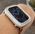 Bling Apple Watch Series 4/5/6/SE Bezel Face Baguette Zirconia Rose Gold 40mm