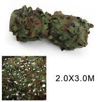 Filet Camouflage Forêt Jungle Camo Camping Chasse Armée Militaire Vert 2mx3m BA