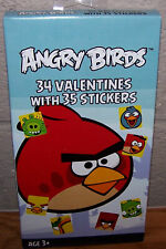 Valentines Day Cards (Box of 34) Angry Birds with & Stickers