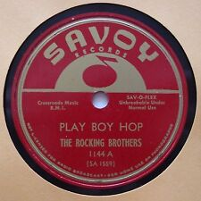 THE ROCKING BROTHERS: Play Boy Hop / The Grinder RARE SAVOY ROCK & ROLL 78