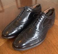 Allen Edmonds McAllister Black Oxford Wingtip Leather Dress Shoes Size 8.5 D