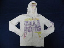 Billabong Graphic White Zip-Up Hoodie Sweatshirt Sz Medium Retail Price $74.95