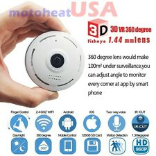360 Degree Fisheye Panoramic IP Camera 1.3 Megapixel 960P Wireless Wifi SPY CAM