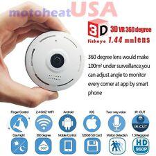 360 Degree Fisheye Panoramic IP Camera 1.3 Megapixel 960P Wireless Wifi SPY CAM
