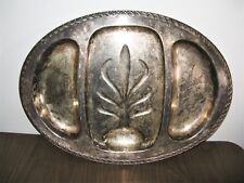 Wm Rogers & Son Spring Flower 2057 Silver Plated Serving Platter Tray Tarnish