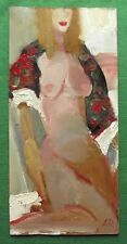 ORIGINALE OLIO PITTURA Paisley Scialle NUDE BY petrenko:: dare BELLE ARTI