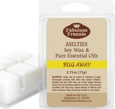 BUG AWAY 2.75oz Pure & Natural Soy Candle Meltie/Tart/Melts by Fabulous Frannie